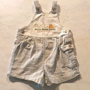 Size 00 Overall style onesie